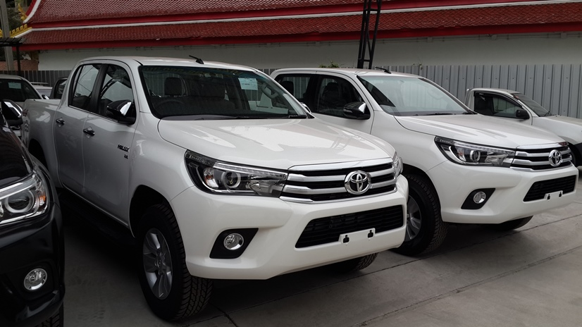 Toyota Hilux Revo Single Cab, Extra Cab and Double Cab Thailand in stock