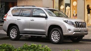 Toyota Land Cruiser Prado Pearl Silver side