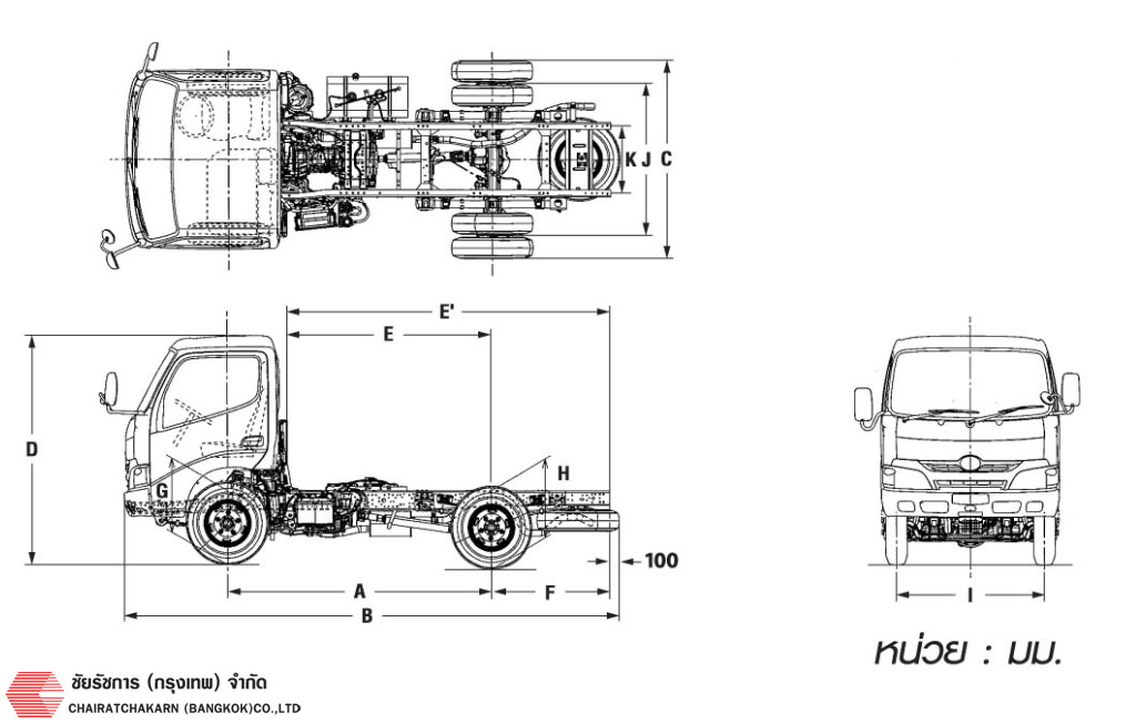 hino truck 600r6w drawing